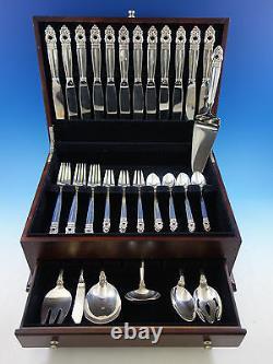 Royal Danish by International Sterling Silver Flatware Dn Set for 12 + Tea Set