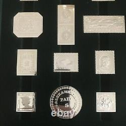 SILVER PROOFS of Worlds Greatest Stamps International Society of Postmasters