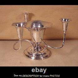 Scarce International Sterling Silver Centerpiece Bowl / Candelabra Combination
