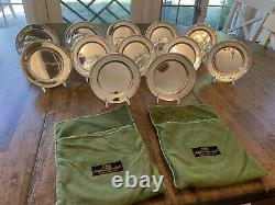 Set 12 International Silver, Sterling Silver Bread and Butter Plates