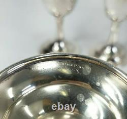 Set of 6 Sterling Silver Lord Saybrook INternational Wine Water Goblets Cups