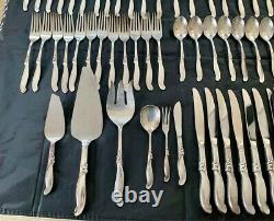 Silver Melody by International Sterling Flatware Service 55 Pieces 121oz