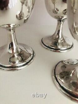 Six (6) Sterling Silver Sherbet Goblets by International Sterling Lord Saybrook
