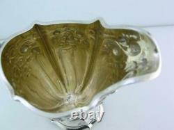 Sterling INTERNATIONAL Creamer Cream Jug floral repousse J. E CALDWELL & CO