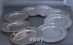 Sterling Silver Bread Plates by International H575 set of eight