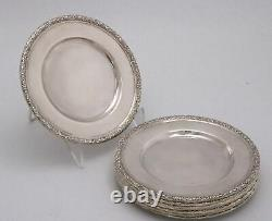 Sterling Silver Bread Plates by International Prelude set of eight