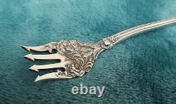 Stratford by International 7 5/8 Sterling long handle pickle fork no mono c1902