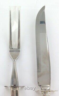 Superb International Silver Royal Danish Sterling Silver Handles Carving Set