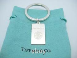 Tiffany & Co. Sterling Passport Tag International Travel Key Ring Pouch A
