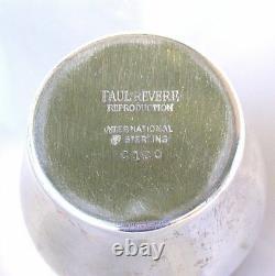 VINTAGE International Sterling Silver Paul Revere Creamer Pitcher C120 AS77