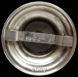 Vintage International Royal Danish Sterling Silver Pepper Grinder & Salt Dish