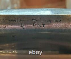 Vintage International Silver Sterling #857 1/2 Pint Hip Flask #4
