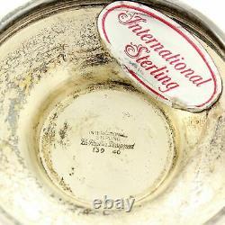 Vintage STERLING SILVER La Paglia COMPOTE Bowl Danish Modern Style International