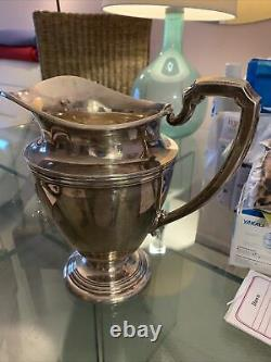 Vintage Sterling Silver 1950s Water Pitcher By International Silver