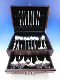 Vision by International Sterling Silver Flatware Set Service 47 Pieces Modern