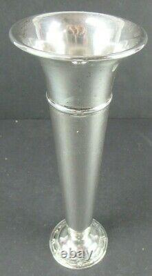 WILD ROSE BY INTERNATIONAL STERLING SILVER BUD VASE V-167 Approx. 8 tall No Mon