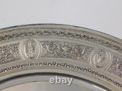Wedgwood by International Sterling Silver Charger Plates Set of 12 #H458