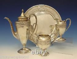 Wedgwood by International Sterling Silver Demitasse Tea Set 3pc withTray (#0712)
