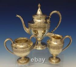 Wedgwood by International Sterling Silver Tea Set 3pc #C311 (#0716)