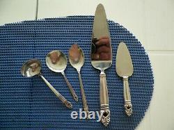 1939 International Royal Danish Sterling Silver Lot De 5 Pièces De Service