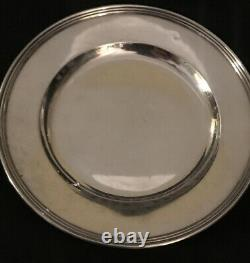 4 International Sterling Silver Bread Salad Assiettes Lord Saybrook H413 No Mono