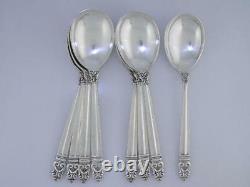 8 Sperling International Spoons À La Crème Glacée Royal Danish Pas Mono