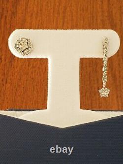 Convertible Sterling Silver Diamond Boucles D'oreilles Unique Diamonds International