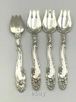 Décor Gorham Sterling Silver Set De 4 Fourches À Crème Glacée 5 5/8