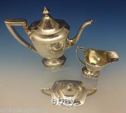 Deerfield Aka Beacon Hill Par International Sterling Silver Tea Set 3pc (#0347)