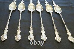 Du Barry Dubarry Iced Tea Spoons Par International. Sterling 7 1/4 (6 Cuillères)