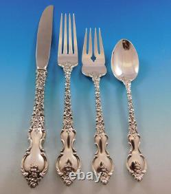 Du Barry Par International Sterling Silver Flatware Service 12 Set 54 Pièces