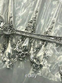 Eloquence Par Lunt Sterling Silver Ensemble De 8 Fourches De Crème Glacée 5 7/8