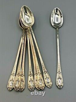 Fontaine Par International Sterling Silver Set De 8 Cuillères À Boissons Glacées 7,5