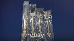 Grande Regency Par International Sterling Silver Flatware Set Dinner Size 12 Nouveau