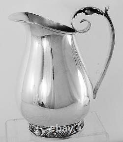 Handsome International La Paglia Silver Sterling Eau Pitcher, Pas De Monogramme
