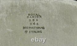 International Sterling Drinks Tray C1950 Royal Danish