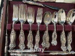 International Sterling Flatware Set For 8 Frontenac True Dinner Size