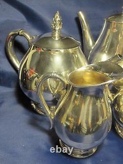International Sterling Royal Danish Tea Coffee 5 Pièces Silver Set. Excellent 75oz
