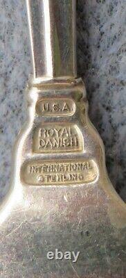 International Sterling Silver Royal Danish Flatware 4 Piece Place Paramètres