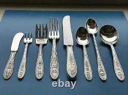 International Sterling Silver Wedgwood Flatware Place Réglage 8 Pièces No Mono