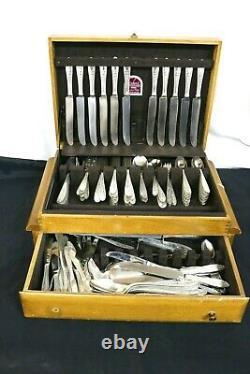 International Sterling Wedgwood Flatware Set, 161 Pièces