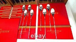International Vision Sterling Silver Flatware 7-pc Service De Réglage Pour 8, 56 Pcs