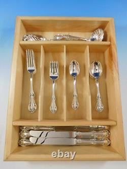 Joan Of Arc Par International Sterling Silver Flatware Service Pour 6 Set 33 Pcs