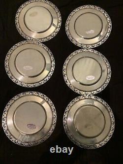 La Paglia De L'international Sterling Silver Dessert Plate #13988 (#1318)