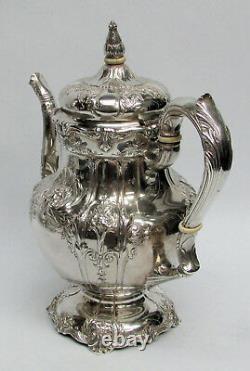 Magnifique Sterling Silver 1935 Richelieu International 9 Tasse Café Pot #wc530