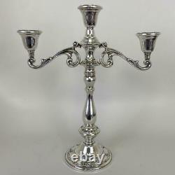 Paire International Silver Sterling Rhapsody Ornée Georgienne 3-light Candelabra