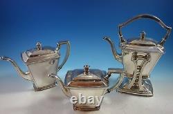 Panthéon Par International Sterling Silver Tea Set 5pc Avec Plateau (#2175)