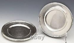 Poser! 6 Pc. International Sterling Silver Bread Dessert Plates Chargers H413