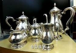 Prélude International Sterling Silver Tea Coffee Sugar Cream Spooner Set C366