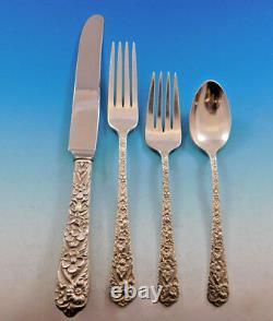 Radiant Rose Par International Sterling Silver Flatware Service 8 Set 32 Pièces